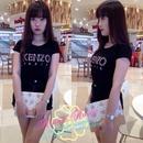 Tp. Hồ Chí Minh: Áo hotgirl 121 AÁo thun cổ tròn, tay ngắn in chữ KENZO Paris, màu đen CL1363201P11