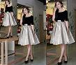 Tp. Hồ Chí Minh: Đầm xòe phối 2 màu da bóng, váy đầm thời trang 2014 CL1363201P11