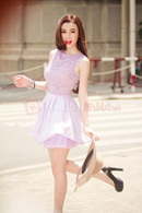 Tp. Hồ Chí Minh: Đầm ren Violet phối voan CL1363201P5