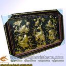 Tp. Hà Nội: Tranh 9 Cá chép hoa sen, tranh phong thủy đồng CL1356181