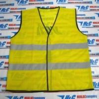 Áo phản quang vải lưới, màu vàng, 2 sọc ngang phản quang màu xám-123