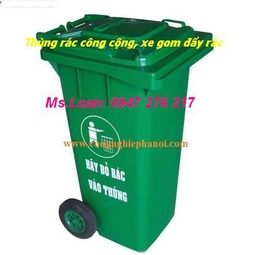 Thùng rác công cộng, xe gom đẩy rác 120l, 240l, 400l, 500l - bachhoa24. com