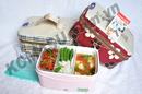 Tp. Hà Nội: Sản phẩm hộp cơm Komasu 3 ngăn có kèm túi và 2 lọ đựng gia vị CL1213428