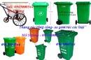 Bắc Ninh: thùng rác công cộng - có bánh xe, thùng rác nhựa 120L-240L, xe gom rác 120L-240L CL1385894P10