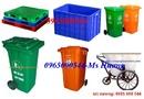 Bắc Ninh: Đại lý thùng rác có bánh xe-thùng nhựa, pallet nhựa -Thung rac cong cong CL1385894P10