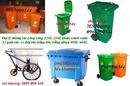 Bình Dương: Đại lý thùng rác công cộng-thùng rác nhựa hdpe, composite 120L-240L, xe gom rác CL1385808