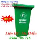 Tp. Hà Nội: Thùng rác công cộng 120 lít, 240 lít, xe gom rác 400-1100 lít, nhập khẩu giá rẻ CL1385808