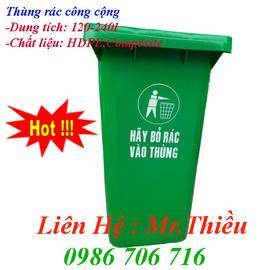 Thùng rác công cộng 120 lít, 240 lít, xe gom rác 400-1100 lít, nhập khẩu giá rẻ