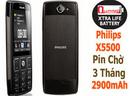 Tp. Hà Nội: Bộ 3 Điện thoại philips x5500, xách tay nga ,pin cực khủng chờ 3tháng CL1701492