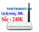 Tp. Hà Nội: Bộ phát wifi sóng khỏe chỉ với giá 240K bảo hành 1 đổi 1 trong 24 tháng CL1163980
