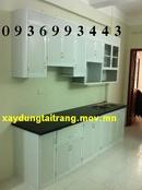 Tp. Hà Nội: 500 Mẫu Tủ bếp nhôm kính , tủ bếp nhôm vân gỗ , tủ bếp nhôm sơn tĩnh điện CL1087010