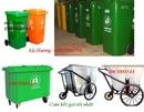 Bắc Ninh: đại lý thùng rác nhựa -thùng rác công cộng 120 lít, thùng rác 240 lít, xe gom rác CL1110045