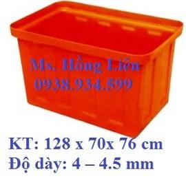 Thùng Nhựa Đặc:154 x 86 x 82cm Độ dày: 4-4. 5mm, Thùng Nhựa Chữ Nhật, Thùng nhựa To