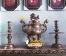 Tp. Hà Nội: Bộ đỉnh thờ đồng vàng giả cổ, đỉnh cao 55cm, đôi nến, đỉnh đồng thờ cúng, bộ đỉn CL1403655