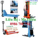 Tp. Hà Nội: xe nâng, xe nâng tay thấp 2000,3000, 5000kg, xe nâng bán tự động 1-2 tấn, 3m CL1408960