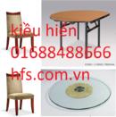 Tp. Hà Nội: bàn ghế, mặt bàn kính soay, ghế nỉ dùng cho nhà hàng khách sạn hfs RSCL1621535