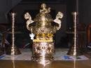 Tp. Hà Nội: Bộ đỉnh đồng song long 60cm, mầu vàng, đúc bằng đồng vàng CL1429931