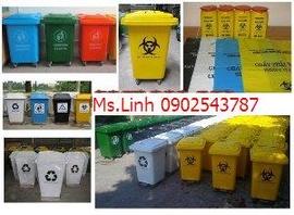 Chuyên cung cấp các loại thùng rác công cộng, thùng rác 120 lít