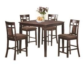 Bộ bàn ăn MDS-063 Chất liệu : gỗ cao su Màu sắc : nâu vàng KT bàn : DxRxC (1.