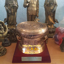 Tp. Hà Nội: hàng quà tặng độc đáo. Sản phẩm quà tặng Trống Đồng đúc thu nhỏ, hoa văn mô phỏn CL1490004