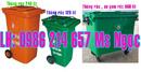 Tp. Hồ Chí Minh: Xe đẩy rác 2 bánh xe, thùng rác nhựa 240 lít CL1500391