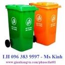 Tp. Hồ Chí Minh: thùng rác nhựa 240l, giá thùng rác 120l, thùng rác nhựa hdpe, thùng rác con thú CL1699258