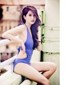 Tp. Đà Nẵng: Bộ bikini liền khoét eo một màu CAT18_214_217_355