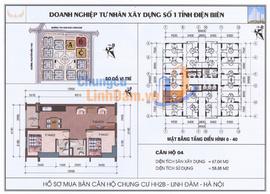 Bán gấp căn 1404,1504, 1604 chung cư HH2B Linh Đàm