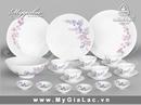 Tp. Hồ Chí Minh: BỘ bàn ăn cỏ tím mang đậm chất ha văn thanh cao của gốm sứ CL1581209