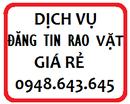 Tp. Hồ Chí Minh: Dịch vụ đăng tin rao vặt hiệu quả tối ưu CL1526652