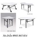 Tp. Hà Nội: bàn tròn tiệc, bàn tròn mặt kính xoay, mặt kính trục xoay, bàn chân gập, bàn vuô CL1528250