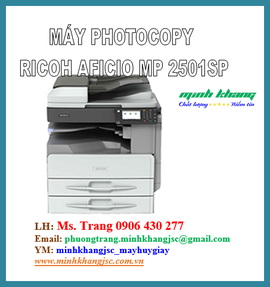 Máy Photocopy Ricoh Aficio MP 2501 SP/ RICOH Aficio MP 2501SP mới giá cực tốt