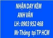 Mở các lớp gia sư ANH VĂN tại tp. hcm 0903. 952. 468