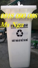 Tp. Hồ Chí Minh: thùng rác nhựa, thùng rác 2 bánh xe, thùng chứa rác, thùng chứa rác công nghiệp CL1555754