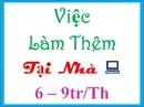 Tp. Hồ Chí Minh: Nhận ứng viên làm thêm tại nhà lương cao làm việc 2-3h/ ngày CL1697068