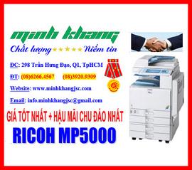 Minh Khang bán sỉ lẻ Máy photo Ricoh 5000 COPY 2 mặt, IN mạng, SCAN màu