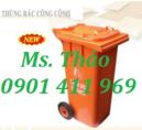 Tp. Hồ Chí Minh: Thùng rác công cộng 120 lít, 240 lít, thùng đựng rác 2 bánh xe, thùng chứa rác CL1591344P6