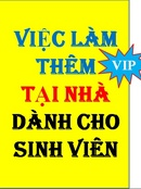 Tp. Hồ Chí Minh: ======== Việc làm bán thời gian dành cho Sinh Viên, số lượng có hạn CL1679776