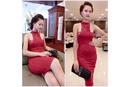 Tp. Hồ Chí Minh: Đầm Ôm Phối Ren đỏ W2919 CL1591814