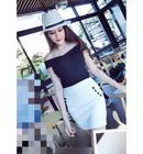 Tp. Hồ Chí Minh: Đầm Bẹt Vai Váy Nút đen W2903 CL1591814