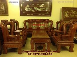 Bàn ghế gỗ đinh hương quốc đào vai 14 QD78