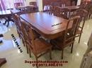Bắc Ninh: Bộ bàn ghế phòng ăn Bàn Chữ Nhật gỗ hương BA41 CL1161092
