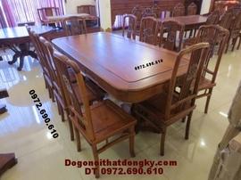Bộ bàn ghế phòng ăn Bàn Chữ Nhật gỗ hương BA41
