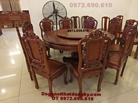 Bộ bàn ghế ăn Giá rẻ kiểu bàn tròn xoay BA42