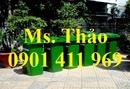 Tp. Hồ Chí Minh: Thùng rác công cộng 240 lít, thùng rác 240 lít, thùng rác nhựa 2 bánh xe, thùng CL1593765