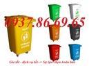 Vĩnh Phúc: xe gom rác 550l, thùng rác công nghiệp 4 bánh xe, thùng rác 60l, thùng rác 660l RSCL1647290