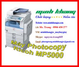 Máy photocopy A3 RICOH MP 5000 giao hàng + lắp đặt + bảo trì miễn phí giá tốt