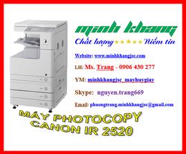 Máy photocopy A3 Canon ir 2520 giao hàng + lắp đặt miễn phí giá chỉ 12 triệu