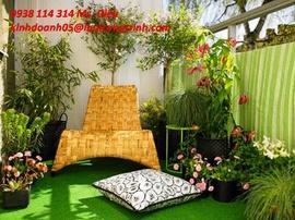 Cung cấp, lắp đặt thảm cỏ nhân tạo trang trí quán cà phê