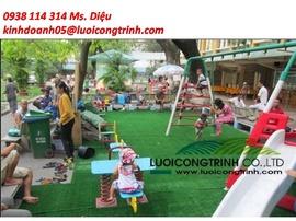 Thảm cỏ nhân tạo cho sân vườn, khu vui chơi trẻ em